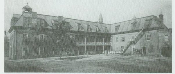 Old Picture of Back of Fannin Hall